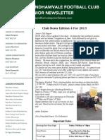 2013 Newsletters Week 4