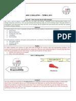 Grade 1/2 class bulletin - Term 2, 2013