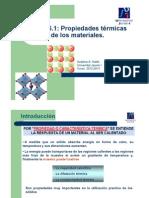 Propiedades térmicas de los materiales