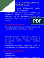 7) Variables de las Tronaduras y Diseño
