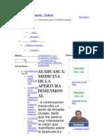 Ayahuasca La Medicina de Apertura Dimensional