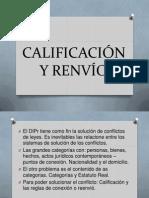 CALIFICACIÓN Y RENVÍO