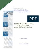 Politica Economia y Educacion