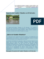 Impactos del Cambio Climático en El Salvador