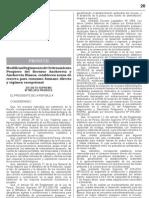 Decreto Supremo 005 - 2012