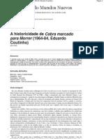 A Historicidade de Cabra Marcado Para Morrer (1964-84, Eduardo Coutinho)