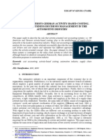 US American Versus German Activity-Based Costing. Effects on Business Decisions Management in Th