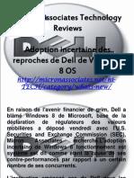 Micron Associates Technology Reviews - Adoption Incertaine Des Reproches de Dell de Windows 8 OS