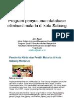 Program Penyusunan Database Eliminasi Malaria