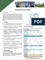 Balance Ofert Y Demanda de Energia 2013 -2017