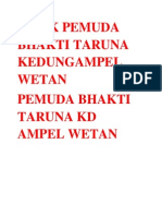 Milik Pemuda Bhakti Taruna Kedungampel Wetan