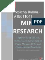Mini Research Sociolinguistics