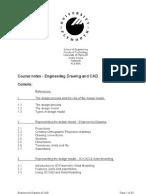 Autocad Notes | Engineering Tolerance | Screw