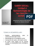 Unidad 4 Epistemología de las Ciencias Sociales