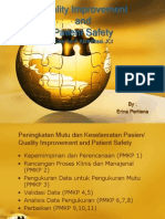 Quality Improvement and Pasient Safety slide by Erina Pertiana