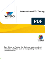 Informatica ETL Testing With UNIX