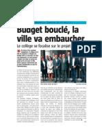 La Nouvelle Gazette - Budget bouclé, la Ville va embaucher - 10.05.13