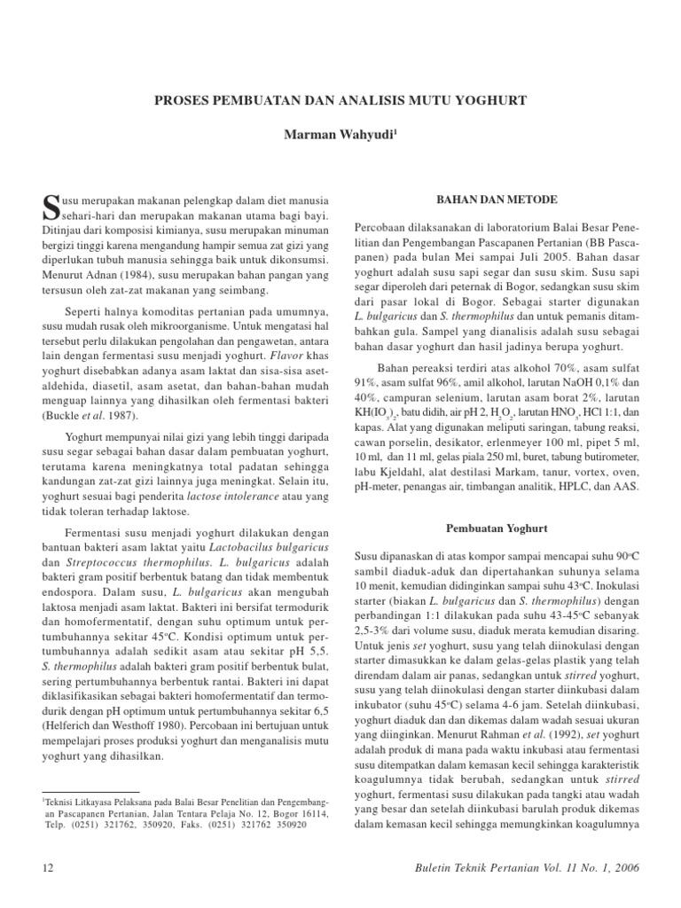 Proses pembuatan dan analisis mutu yoghurt 1536958374v1 ccuart Image collections