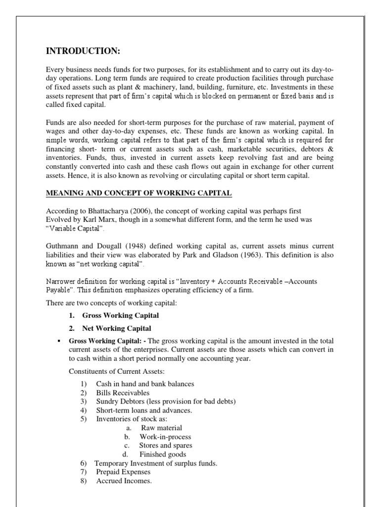 working capital management   working capital   capital (economics)