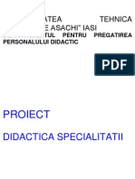 Proiectarea Demersului Didactic