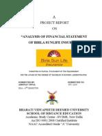 Birla Sunlife Insuranse (Finance)