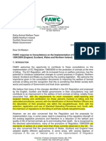 FAWC Response to Consultations on the Implementation of EU Regulation 10992009