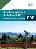 Umweltbewusstsein 2012