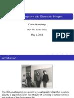 RSA and Eisenstein Integers