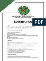 Msa Constitution for Npo