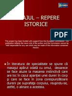 Masajul-repere istorice