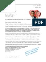 Letter to Rex & Barack 13-05-10 Tarsands