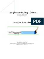 [Theory] - Sight Reading Jazz - Rhythm Exercises