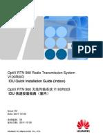 RTN 980 IDU Quick Installation Guide (Indoor) V100R003(CN&en)_04