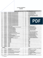 List of Offering Courses for Fall 2010
