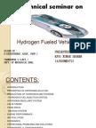 Hydrogen Fueled Vehicle