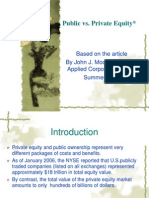 Public vs Private Equity