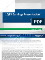 1Q13 Earnings Presentation
