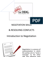 Negotiation Skills and Resolving Techniques