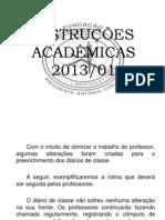 apresentação professores 2013 1º semestre