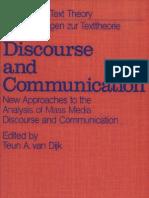 Discourse and Communication - Van Dijk