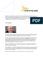 Letter of the Lords - May 10, 2013