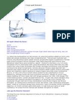 Apa Sih Kriteria Air Minum Yang Layak Diminum