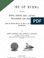 History of Burma by Sir Arthur P. Phayre