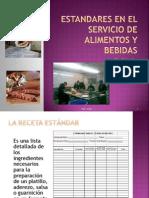 Estandares en El Servicio de Alimentos y Bebidas Pp