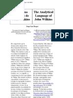 The Analytical Language of John Wilkins