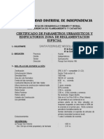 Parametros Urbanistios de Quinuacocha