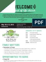 Church Bulletin for May 10 & 12, 2013