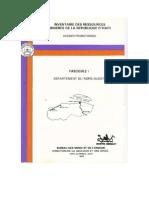 Inventaire Des Ressources Minières de la République D'Haïti (Nord Ouest)
