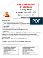 Stop Common Core in Michigan Rally Flyer