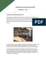 MANEJO Y PREPARACIÓN DE GANADO PARA EXPOSICIÓN